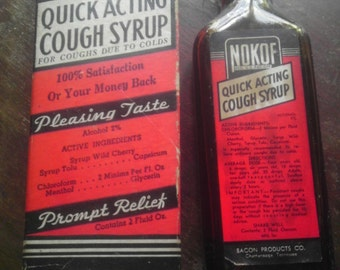 Antique Nokof Cough Syrup with Box
