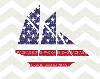 SVG Cutting File, American Ship, Boat Clipart, Boat SVG, USA, America, American Flag, 4th of July, American Map, Png American Map, Clipart,