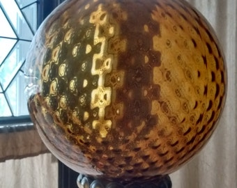 Amber Globe Hanging Swag Lamp