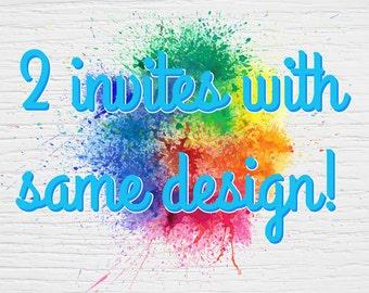 Add on: 2 invites with same design!