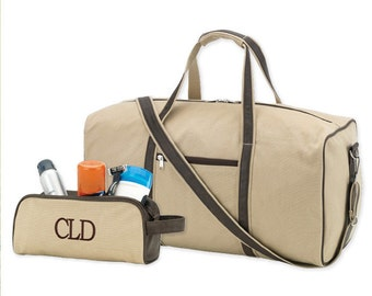 Mens Duffle Bag, Monogram Duffle Bag, Personalized Duffle Bag, Mens Overnight Bag, Mens Travel Bag, Gifts for Him, Father's Day Gift