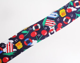 Beach Hut Print Camera Strap Cover
