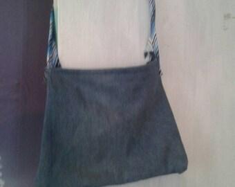 Denim handbag shoulder bag
