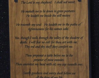 23rd  psalms plaque