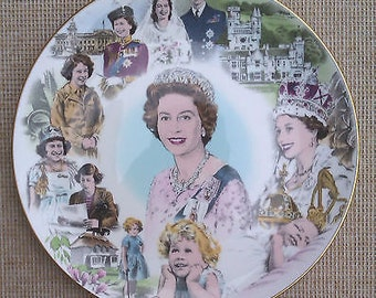 Coalport 60th Birthday of HM Queen Elizabeth II Plate - 1986
