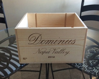 Dominus Napa Valley wooden wine crate- Perfect for wedding Centerpieces