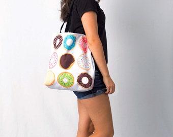 Donut Tote Bag - Market Tote - Reusable Bag