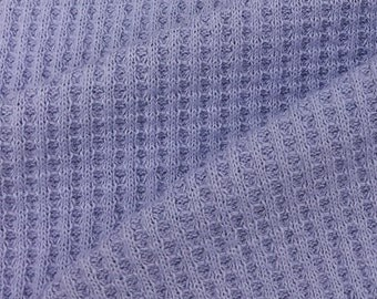 100% Cotton Thermal knit Fabric By the Yard (Wholesale Price Available By the Bolt) USA Made Premium Quality - 7319 - 1 Yard