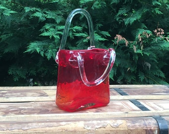 Red Glass Purse