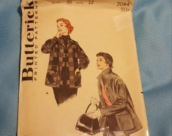 1950 Butterick #7044 size 12  UNCUT