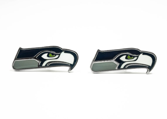 Seattle Seahawks Cuff Links -- FREE SHIPPING with USPS First Class Domestic Mail