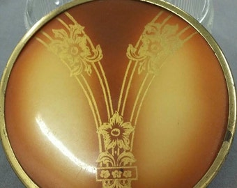 Vintage Celluloid Art Deco Face Powder Jar