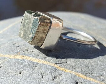 Fools Gold (Pyrite) Ring