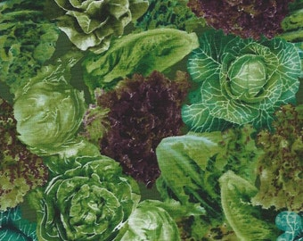 Cabbage, lettuce,Vegetable Patch,Farmers MarketVIP fabrics