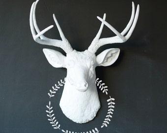 Faux Deer Head, Faux Taxidermy, Any Color Deer Head, Wall Mount Deer, Animal Head, Painted Deer Head, Fake Deer Head, Deer Antlers, White
