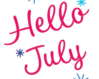 "Wall Art - ""Hello July"""