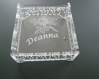 Custom Created Engraved Love You to Moon And Back Personalized Clear Acrylic Keepsake Box