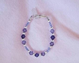 Purple diamond baby bracelet