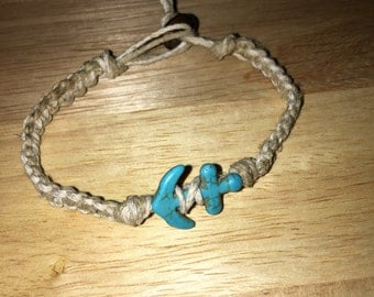 Anchor Hemp Bracelet