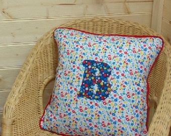 Garden Flowers Letter Cushion ~ Initial