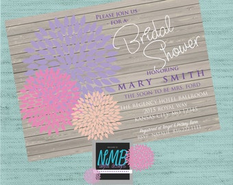 Colorful Bridal Shower Invitation 5x7