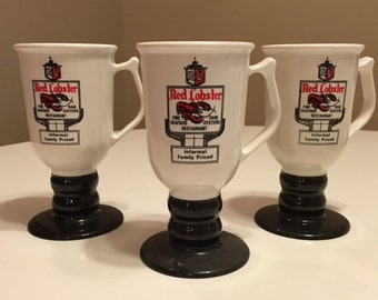 1960's Red Lobster Mugs, set of Three