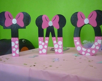 Minnie Mouse Number or letters