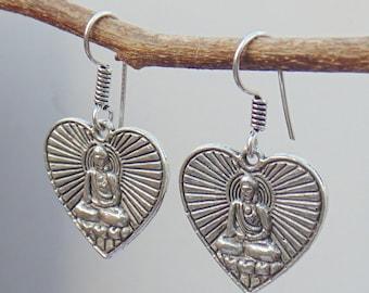 Budha earring | Meditation jewelry earring | Dangle drop earring | Indian fashion jewelry | New year gift earrings | Tribal earrings | E46
