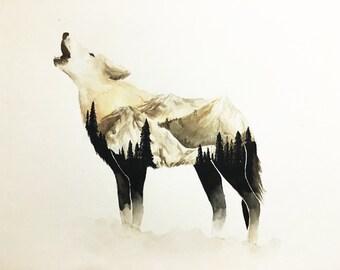 Mountain Wolf Print