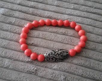 Orange Shell Decorative Charm Bracelet