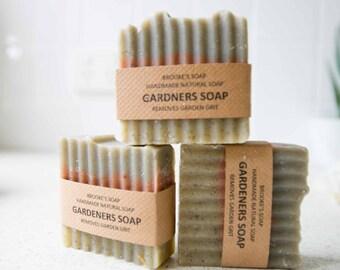 Handmade Natural Gardeners soap, the ultimate dirt remover