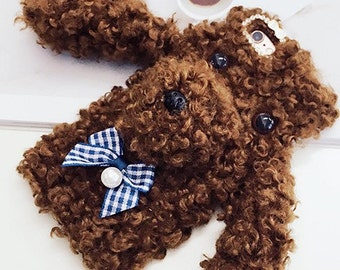 Poodle  Phone Cases,Brown iPhone 6 case,Plush iPhone 6 plus case,iPhone 6S case,iPhone 6S plus case,iPhone 6S cover