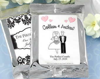 Wedding Favor Coffee, Personalized Coffee Favors, Wedding Coffee, Bridal Shower Favors, Coffee Bar, - Set of 30