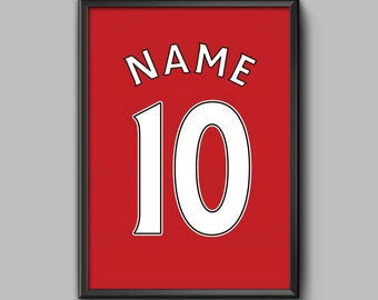 Liverpool FC Home Shirt: Your Name Your Number