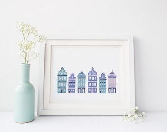 Row House Wall Art (Digital Download)
