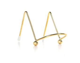 "2"" gold metal mini easel/Gold metal table number holder"