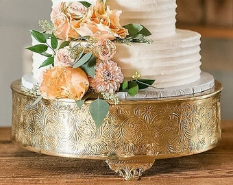 gold plated wedding cake stands 14 inch cake stand etsy 14805