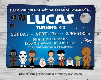 Star Wars birthday invitation - personalized with your child's name - digital / printable
