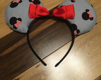 Minnie Mouse Ears, Custom Minnie Ears, Disney Inspired Mickey Ears