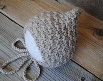 Newborn knit hat, knit baby hat, baby girl hat, baby boy hat, newborn knit bonnet, newborn girl, newborn boy, newborn photo prop, pixie hat