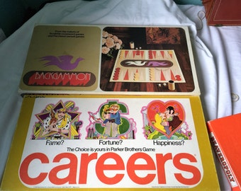 Two vintage games: Backgamon and Careers