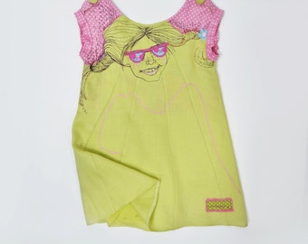 PEE lein DRESS, dress, apple green dress, girl with sunglasses