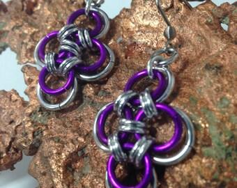 Chain Maile Cross Earrings