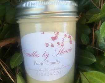 Soy Candle Peach Vanilla