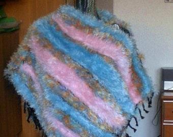Poncho ladies soft like fur