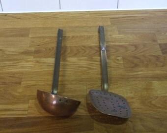 Copper Utensils // Antique French Copper Kitchen Utensils