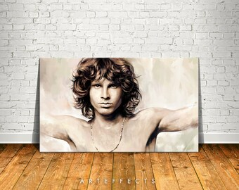Jim Morrison Canvas High Quality Giclee Print Wall Decor Art Poster Artwork