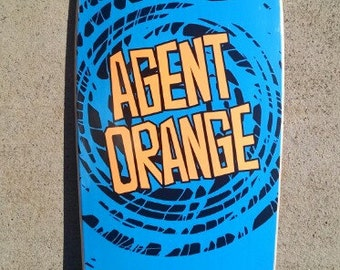 Agent Orange PunkPig Skateboard Deck