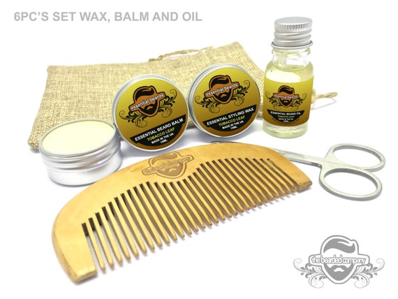 essential beard grooming kit tobacco leaf 6pc by. Black Bedroom Furniture Sets. Home Design Ideas