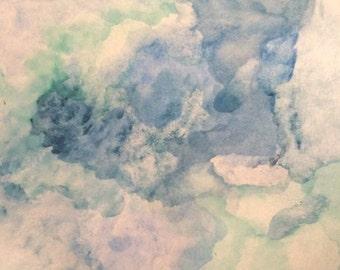 A watercolor sea
